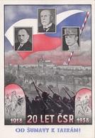 1918 - 20 LET CSR - 1938, OD SUMAVY K TATRAM! Karte Mit Sondermarken Und Sonderstempel Frankiert - Geschichte