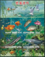 Korea (Nord) 2004 Süßwasserfische Block 597 A Postfrisch (C30464) - Corea Del Nord