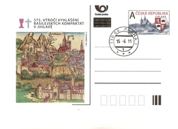 CDV 138 Czech Republic Anniversary Of The Basel Compacts 2011 Jihlava Iglau - Christianisme
