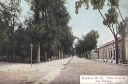 Tarjeta Postal.  Mendoza  (Argentina) Calle Libertad   Esq   Espejo    Ed José König  18561 - Argentine