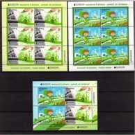 2016 Belarus Europa CEPT Thinking Green  Full Set Of MS And 2 KB/ Sheetlet - Paper - MNH** MiNr. 1109 - 1110 (Block 134) - Belarus