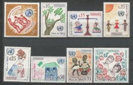 MONACO ANNEE 1963 N°599 A 606  NEUFS** MNH - Mónaco
