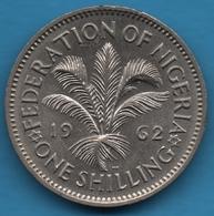 NIGERIA 1 SHILLING 1962 KM# 5 Elizabeth II - Nigeria