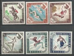 MONACO ANNEE 1960 N°532 A 537 NEUFS** MNH - Mónaco