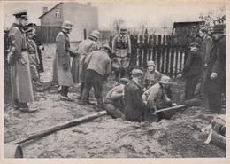 DEUTSCHES RICH Einsatz Der SS POLIZEI Im Osten, Orig.Fotokarte, KARTE Des KRIEGS-WINTER-HILFSWERK - Geschichte