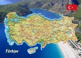 Turkey Country Map New Postcard Türkei Landkarte AK - Turquia