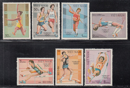 1983 Vietnam Los Angeles Olympics Athletics Complete Set Of 7 MNH - Vietnam
