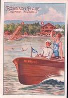 Colombier Suisse, Publicité Robinson-Plage Colombier Neuchâtel (23.2.32) 10x15 Pli D'angle - Publicité