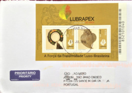 "Brazil, Circulated Cover To Portugal, ""Philatelic Exhibition"", ""Lubrapex 2016"", 2016 - Cartas"