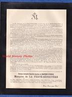 Document Ancien De 1900 - TOURS - Mme Antoinette Charlotte Appoline De CHASTENET PUYSEGUR Marquise De La Ferté Sénectère - Décès