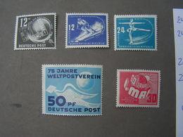 DDR Lot  246-247,248,242,250 ** MNH   € 58,00 - Ungebraucht