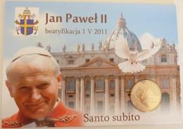 Béatification Du Pape Jean-Paul II Carte Mémorium + Pièce 2zl Incluse  - 2011 - - Polonia
