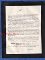 Document De 1886 - TOURS - Monseur Augustin Marie Faustin THIBAULT De La CARTE Marquis De La Ferté Sénectère - Décès