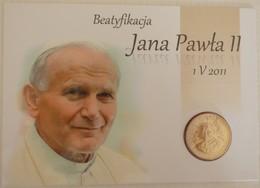 Béatification Du Pape Jean-Paul II Carte Mémorium + Pièce 2zl Incluse  - 2011 - - Polen