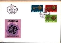 92724) PORTOGALLO 1968 FDC Europa CEPT - FDC