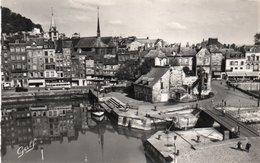 HONFLEUR-QUAI ST. CATHERINE ET LIEUTENANCE-REAL PHOTO - Honfleur