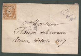 Oblit. () Losange Bureaux De Quartier De Paris - ES1 : 75 Fg St-Honoré Sur Napoléon 10c Brun Non Dentelé - 1849-1876: Classic Period