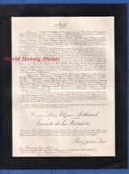 Document De 1924 - CANNES / LYON / Château De BOUTLANDE - César Léon Elzéar ARTHAUD Vicomte De La FERRIERE - Décès