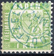 Stamp Baden 1868 1kr Used - Baden
