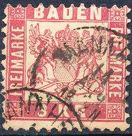 Stamp Baden 1868 3kr Used - Baden