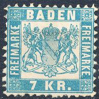 Stamp Baden 1868 7kr Mint - Baden