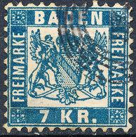 Stamp Baden 1868 7kr Used - Baden