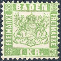 Stamp Baden 1868 1kr Mint - Baden