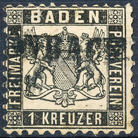 Stamp Baden 1862 1kr Used - Baden