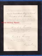 Document De 1919 - Logis Du PIN / Mayenne - Marguerite JUNOT D' ABRANTES MIHCEL Du PUISARD Vicomte De La FERRIERE - Décès