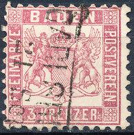 Stamp Baden 1862 3kr Used - Baden