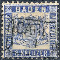 Stamp Baden 1862 6kr Used - Baden