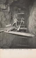 Miners At Work In Stoop, Leadville Colorado, Mine Shaft Interior View C1900s Vintage Postcard - Mines