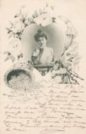 Jack Abelle Artist Signed Image Beautiful Woman Coins Romance Theme C1900s Vintage Postcard - Illustrators & Photographers