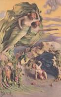 Barchi Artist Signed Image Beautiful Women Cherub Romance Theme C1920s/30s Vintage Postcard - Illustrators & Photographers