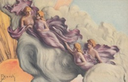 Barchi Artist Signed Image Beautiful Couple, Romance Theme C1920s/30s Vintage Postcard - Illustrators & Photographers