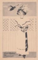 Unsigned Artist Image 'Loves Biplane Messenger' Beautiful Woman, Romance Theme C1910s Vintage Postcard - Illustrators & Photographers