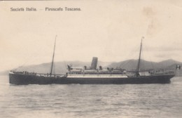 Societa Italia Piroscafo Toscana Italian Tuscan Steamer C1900s/10s Vintage Postcard - Paquebots