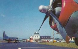 Chemung County Airport Near Elmira New York, Propeller Planes, Equipment Autos C1950s Vintage Postcard - Aerodromes
