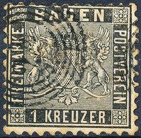 Stamp Baden 1860 1kr Used - Baden