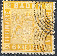 Stamp Baden 1860 3kr Used - Baden