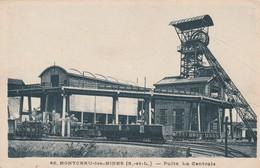 Rare Cpa Montceau Les Mines Puits La Centrale - Montceau Les Mines