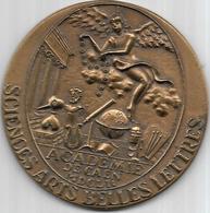 Msam Medaille Bronze Académie De Caen Sciences Arts Belles Lettres  MDCLII - Professionals / Firms