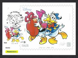 Italia 2020; San Valentino Per Paperino: Maximum Card - Cartoline Maximum