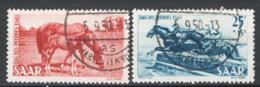 Sarre 1949 Unif.253/54 O/used VF/F - 1920-35 Società Delle Nazioni