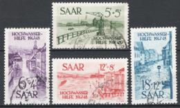 Sarre 1948 Unif.244/47 O/used VF/F - 1920-35 Società Delle Nazioni