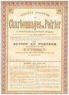 Action Uncirculed - Sté Anonyme Des Charbonnages Du Poirier - Titre De 1925 - Mines