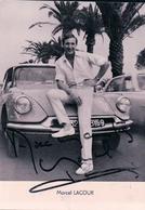 Marcel Lacour Et Signature, Chanteur Et Automobile Citroën (3269) 10x15 - Musica E Musicisti