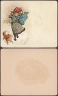 Chromo Images: Femme Et Chien Sous La Neige..............(VG) DC6785 - Chromos