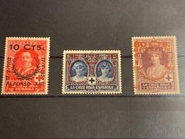 España Nº 375, 380 Y 382. Año 1927. - Unused Stamps
