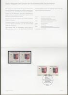 """Bund: Minister Card - Ministerkarte Typ IV, Mi-Nr. 1715 ESST, """" Wappen Schleswig-Holstein """"    X - [7] República Federal"""